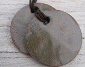 Two Pendant Stoneware Necklace (2)
