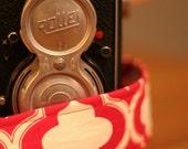 SALE // Camera Strap - Big Red Lattice