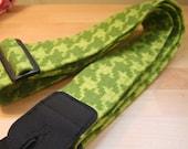 SALE // Green Houndstooth Guitar Strap