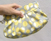 Janbag Wristlet, bridesmaids bag, bridal, diaper bag, gift pouch, bride - Martini mustard