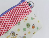 SALE Small pouch, handmade, gift under 10, gift pouch,- Bees