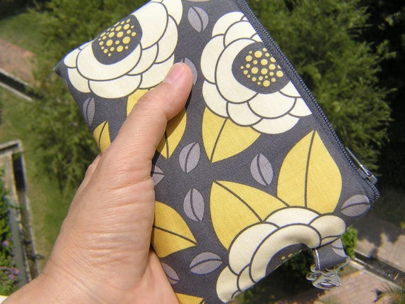 Gadget bag, phone pouch, card wallet, camera bag - Bloom in granite