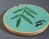 Weeping Willow Tree Study Embroidered Wall Art