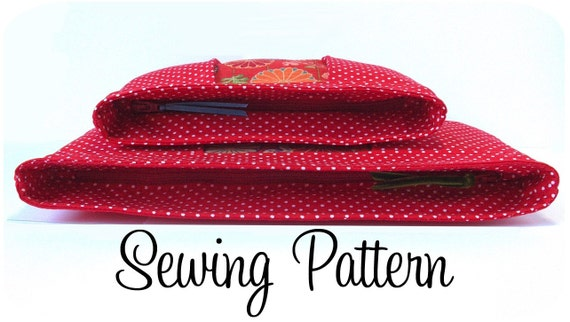 Inset Zip Clutch and Pouch PDF Sewing Pattern (Email Delivery)