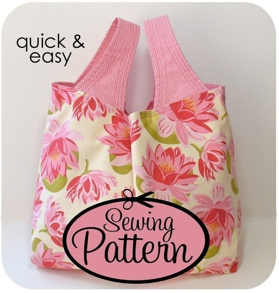 Sewing Pattern to Make a Grocery Bag - PDF Pattern (Email Delivery) - 3 Sizes