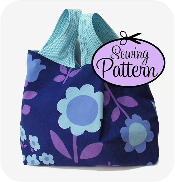 Grocery Bag Sewing Pattern - PDF (Email Delivery)  - 3 Sizes