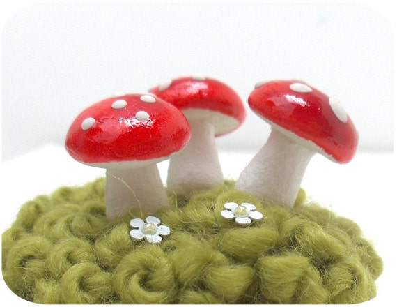 3 Mushroom Pins