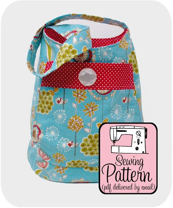 Bucket Bag Sewing Pattern - PDF (Email Delivery) - Tutorial to Make the Bag Yourself