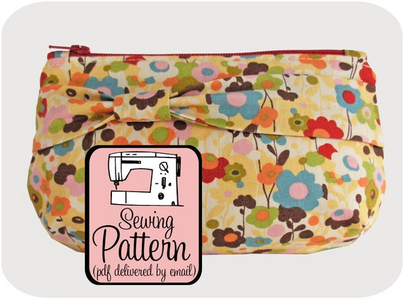 Sewing Pattern to Make Zip Clutches - PDF (Email Delivery)