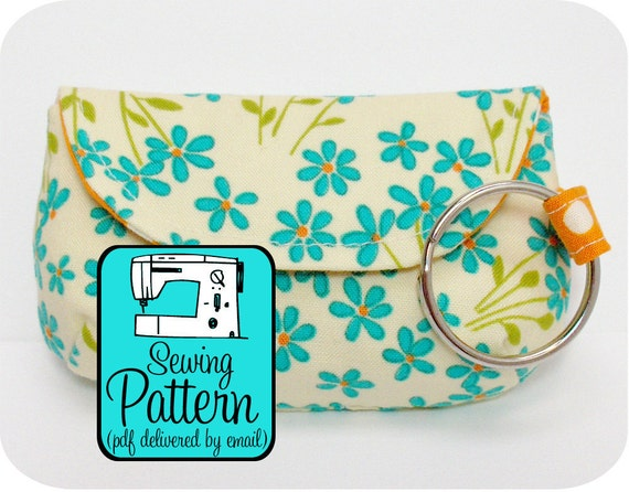 Keychain Clutch Sewing Pattern - PDF Pattern (Email Delivery) - Instructions to Make it Yourself