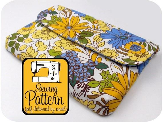 """Laptop Sleeve Sewing Pattern - 13"""" Laptops - PDF Pattern (Email Delivery)"""