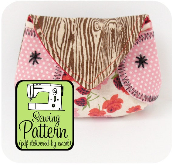 Sewing Pattern to Make an Owl Coin Purse - PDF (Email Delivery)