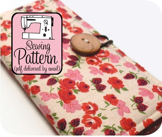 Checkbook Wallet Sewing Pattern - PDF Pattern (Email Delivery) - Instructions to Make it Yourself