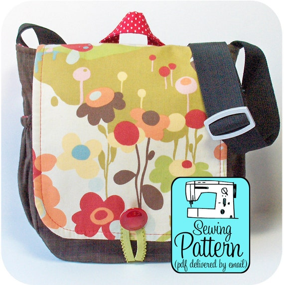 Messenger Bag PDF Sewing Pattern (Email Delivery) - Instructions to Make the Bag Yourself