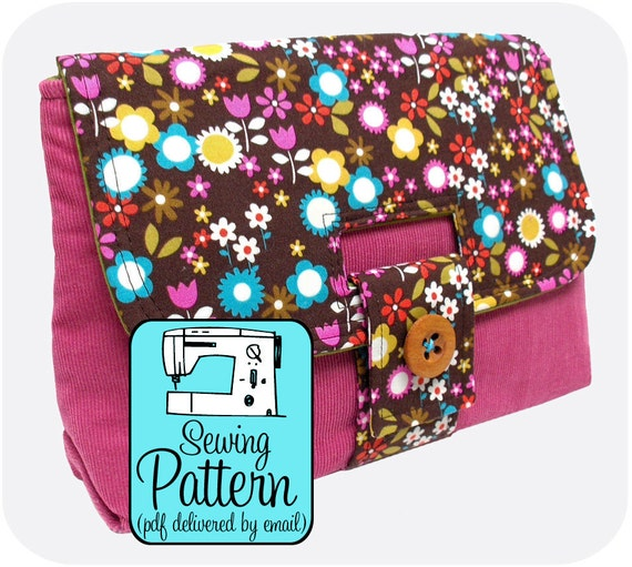 Strap Clutch Sewing Pattern - PDF (Email Delivery) - Instructions to Make it Yourself