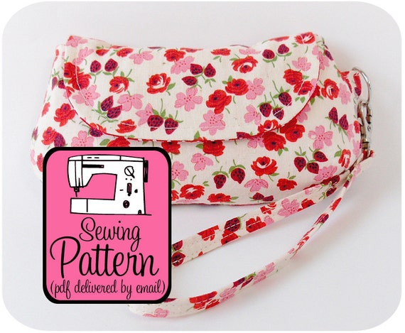 Curvy Clutch Sewing Pattern - Make a Clutch/Wristlet in 3 Sizes - PDF (Email Delivery)