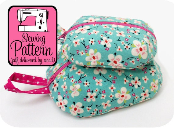 Ditty Bags Sewing Pattern - PDF Sewing Pattern (Email Delivery) - Make Pouches in 3 Sizes