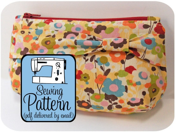 Zip Clutches Sewing Clutch Pattern - PDF (Email Delivery) - 3 Sizes