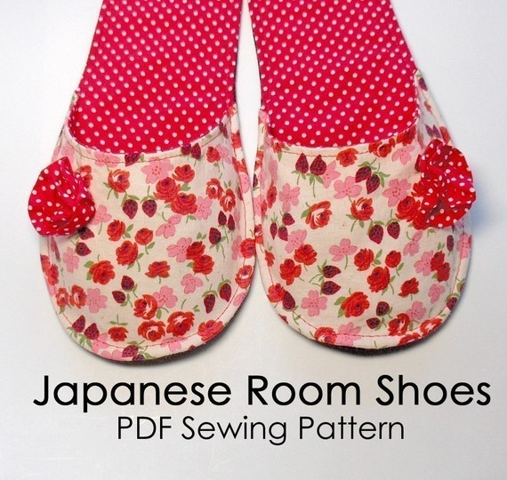 Japanese Room Shoes Pdf Sewing Pattern