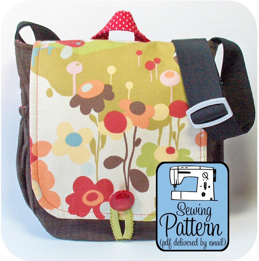 32cf2cb21981 Tote Bag Pattern  Messenger Bag Pattern Sewing