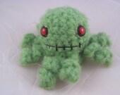 Fuzzy Green Zombie Octopus