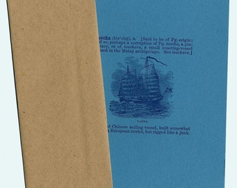 6-pack Vintage Ship letterpress notecards