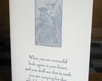Joy/Sadness letterpress card