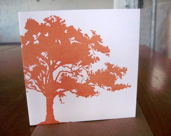 5-pack Pink Oak letterpress notecard