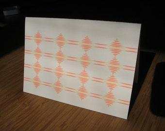 5-pack Echoes letterpress card set