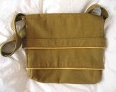 Olive Canvas Shoulder or Messenger Bag