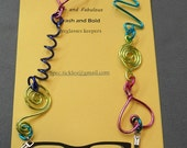Unique fun eyeglasses chain        w7