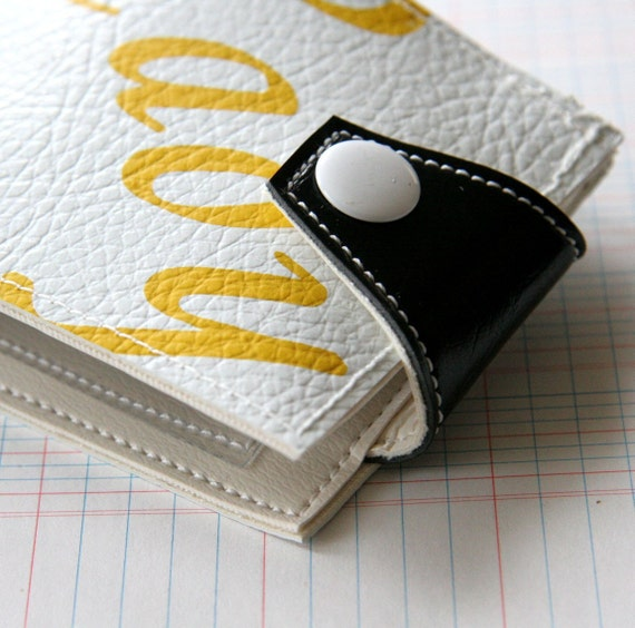 Tennis Snap Wallet - Recycled Vinyl
