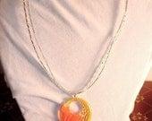 Orange Acrylic Necklace