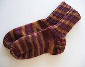 Handknit Socks -- Technicolor