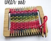Weaving Loom Brooch - Crayon Box