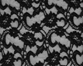 Black Stretch Lace - 47inch wide\/13 yds