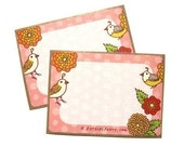 Gift Stickers - Pink Floral Bird Gift Labels, Gift Wrap Packaging Stickers
