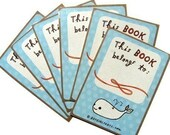 Whale BOOK STICKERS ex libris bookplate exlibris labels for book lovers moby dick library this book belongs to sticker