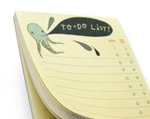 Octopus TO DO LIST notepad by boygirlparty, squid to-do list note pad - office organization