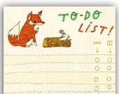 Notepad - Fox To Do Notepad - Recycled Paper Notepad - Eco friendly List Notepad