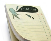 OCTOPUS TO DO LIST notepad with octopi by boygirlparty, list organization memo office cute strange ocean