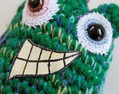 SALE Green No Sleeves Monster OOAK Crocheted Collectible Art Doll