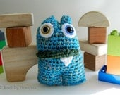 Water Lily Mini Monster OOAK Crocheted Amigurumi Plush Doll - knotbygranma