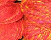 Flame Handspun yarn