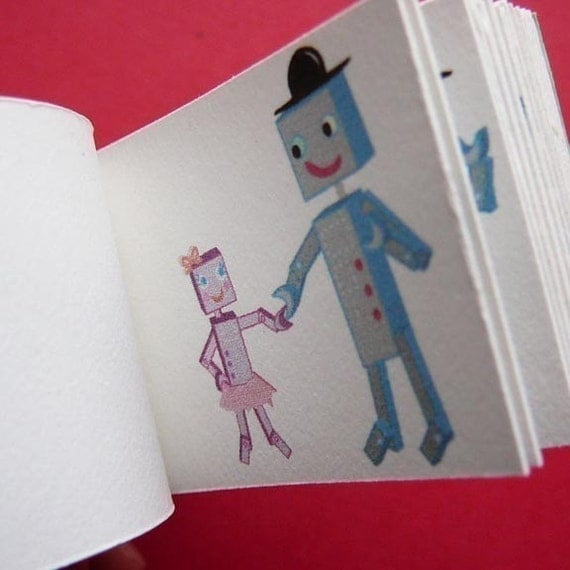 Father-Daughter Robot Dance Flip Book