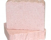 Pink Grapefruit Sea Salt Soap with Shea and Cocoa Butters - Sweet Juicy Scent