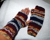Multi Colored Fingerless Gloves (Adult)