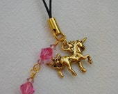 Unicorn cell phone or purse charm