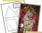 birdhouse and bluejay print blocks - printable paper patterns - pdf download