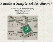 learn to solder a charm necklace - downloadable pdf file tutorial